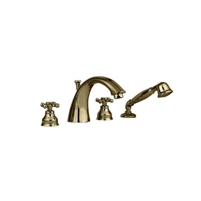 Фото сантехники Lady Смеситель для ванны встроенный в борт, на 4 отверстия, цвет бронза
