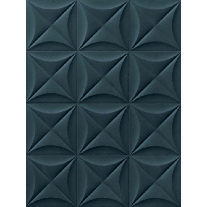 Текстура плитки 4D Flower Deep Blue 20x20