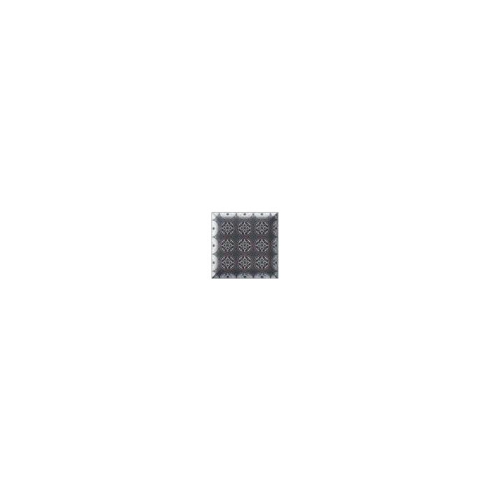 Текстура плитки Decor Metal Black 15x15