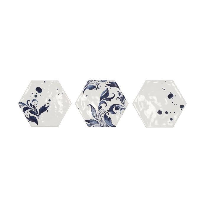 Текстура плитки D.Vezelay Drops Blue 17.5x20
