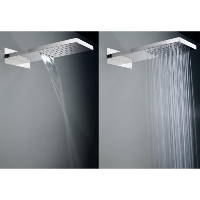 Фото сантехники Bossini Душевая панель Manhattan из стали, 2 режима дождь/водопад 500х200хH24, хром