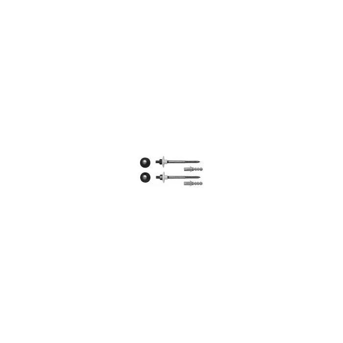 Фото сантехники Крепление для подвесного биде, унитаза, диаметр 12х180мм, колпачки хром - 2