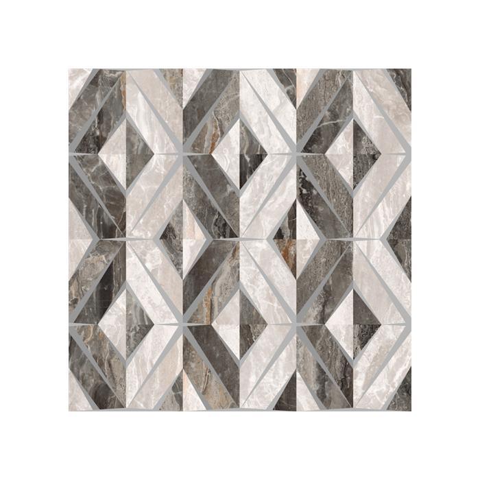 Текстура плитки Bergamo Теплая Гамма Геометрический Микс Декор Лаппато 60x60