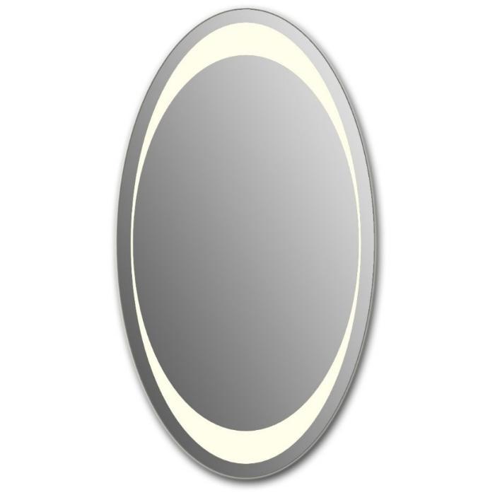 Фото сантехники Мир стекла Зеркало 100x60 (овальное,  45), подсветка, ИК-выключатель