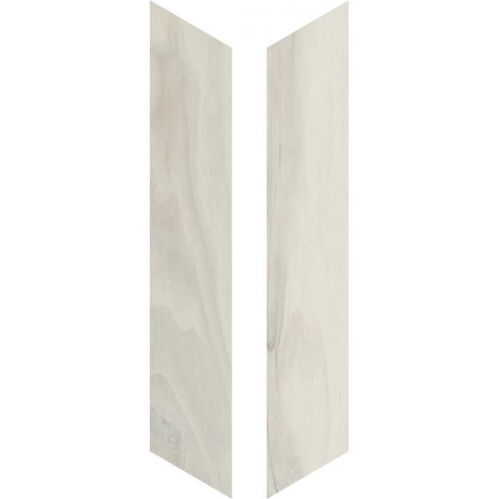 Текстура плитки Woodie White Chevron 7,5x40,7