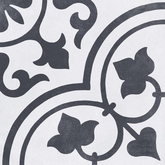 Текстура плитки Cuban White Ornate 22.3x22.3