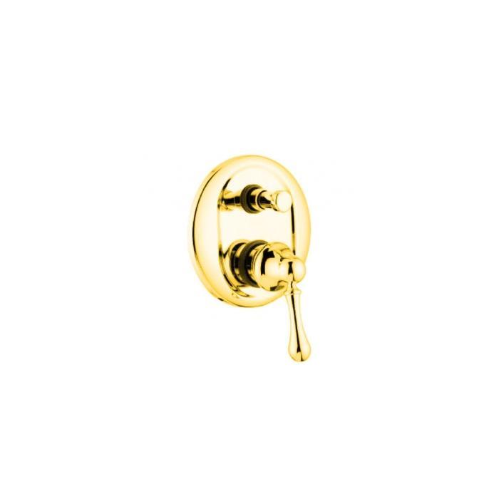 Фото сантехники Maya смеситель монокомандный, скрытого монтажа, с девиатором, золото