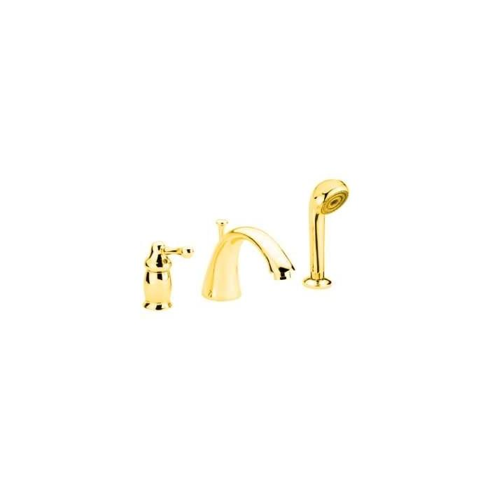 Фото сантехники Maya Смеситель для ванны встраиваемый в борт, на 3 отверстия, цвет золото