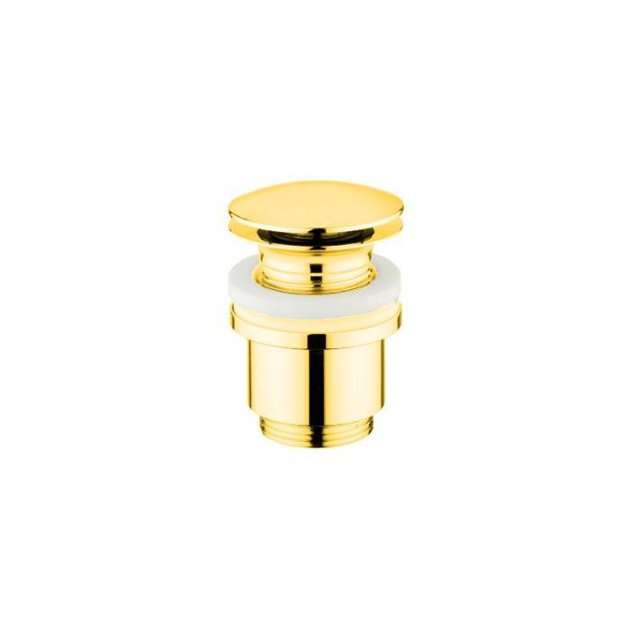 Фото сантехники Донный клапан Click-clack под перелив, цвет золото