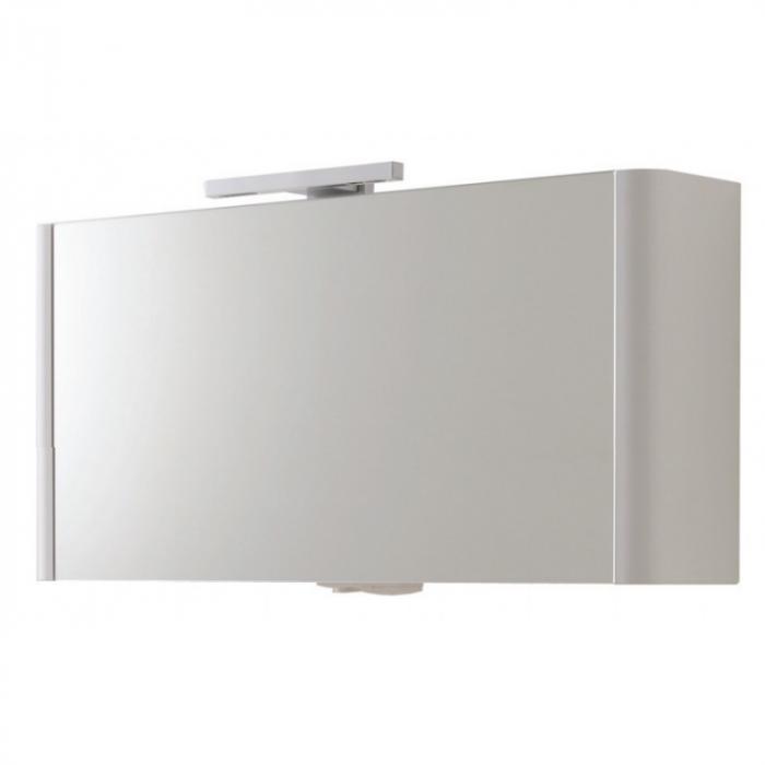 Фото сантехники Awe Зеркальный шкаф с подсветкой 100 см,цвет королевский белый, глянец