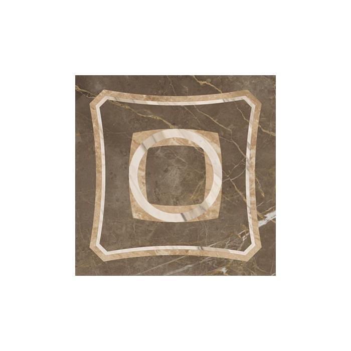 Текстура плитки Портофино Серый Вставка Интарсио Шлиф. Ретт. 45x45
