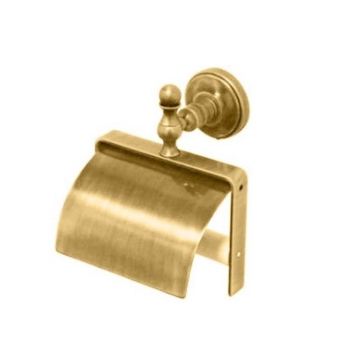 Фото сантехники Mirella Бумагодержатель закрытый, цвет золото