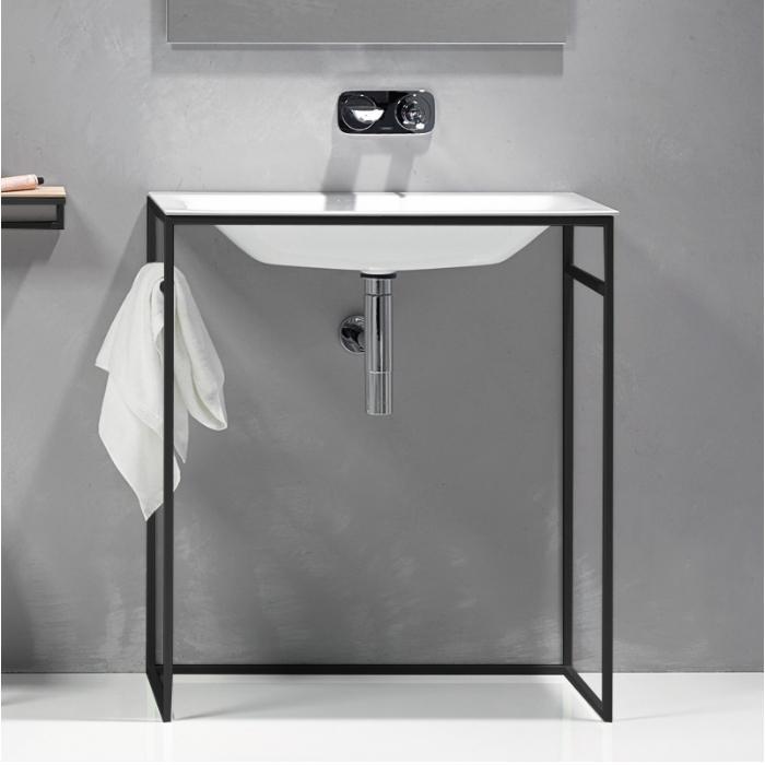 Фото сантехники BetteLux Shape Каркас для раковины A171, цвет черный матовый