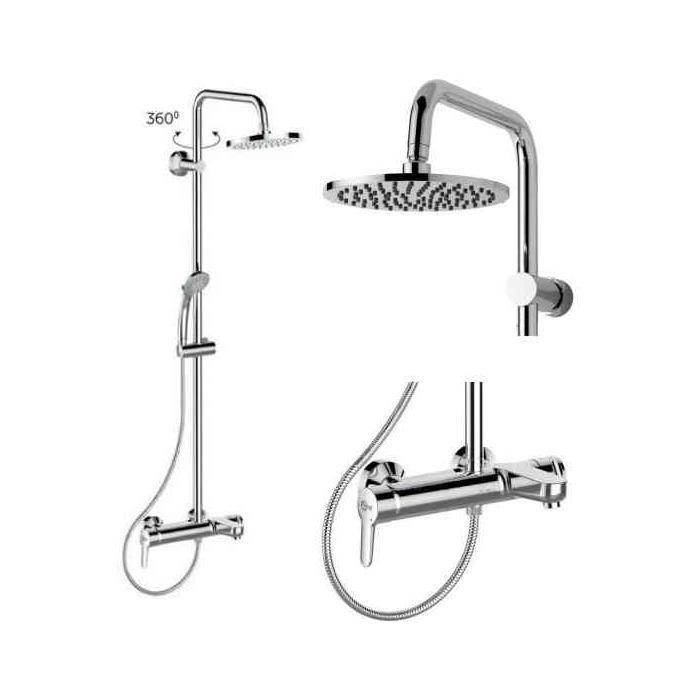 Фото сантехники Idealrain Eco SL Душевая система со смесителем для ванны/душа , цвет хром - 3