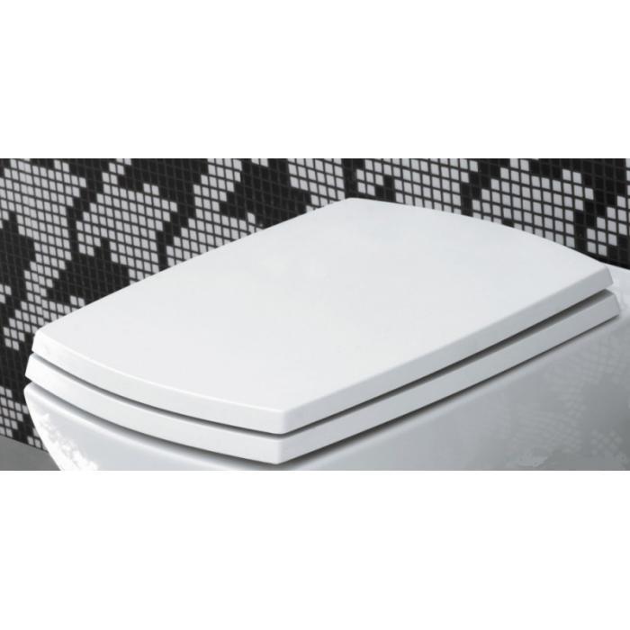 Фото сантехники Сиденье для унитаза Soft-close, белый, петли хром