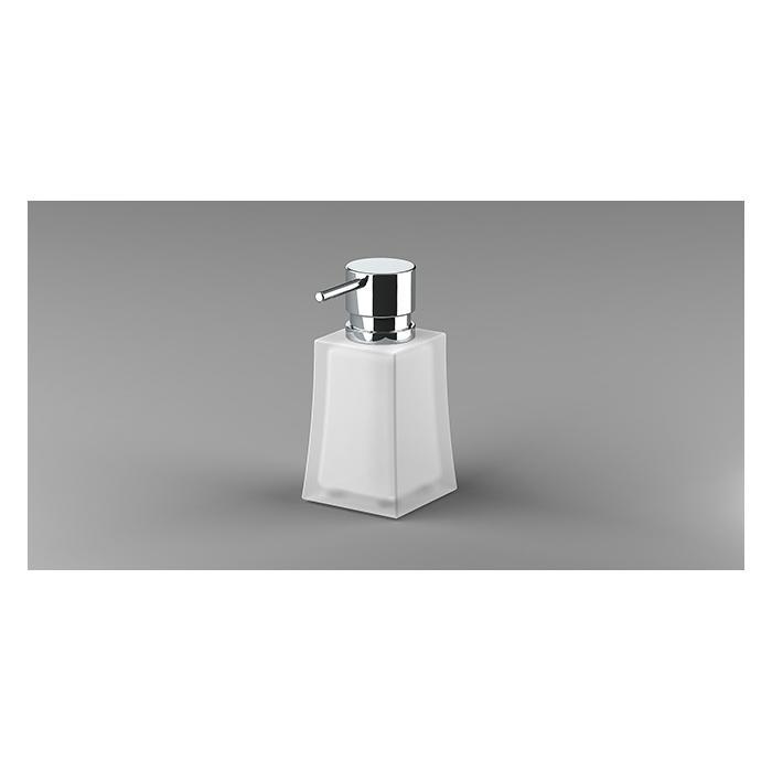 Фото сантехники S7 Дозатор для жидкого мыла, стекло/золото, настольный