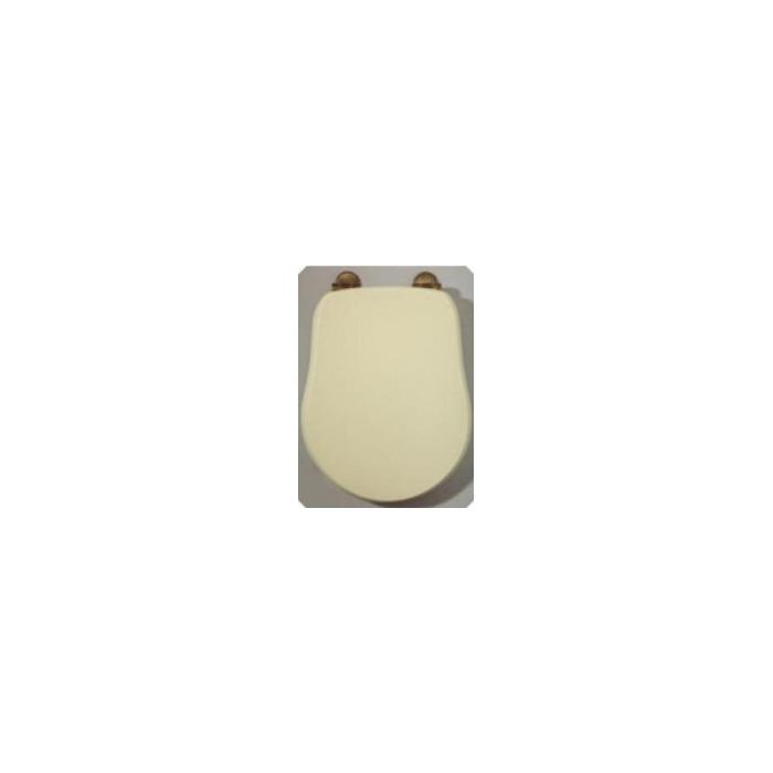 Фото сантехники Bella Крышка для унитаза с системой Microlift, цвет Decape Sabbia, петли бронза