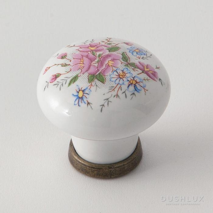 Фото сантехники Ручка керамика для мебели с рисунком