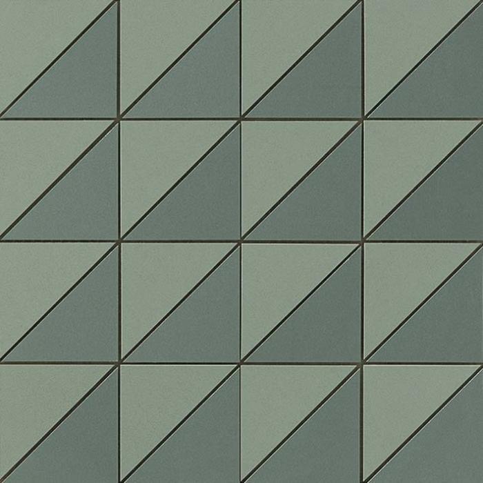 Текстура плитки Arkshade Sage Mosaico Flag 30,5х30,5