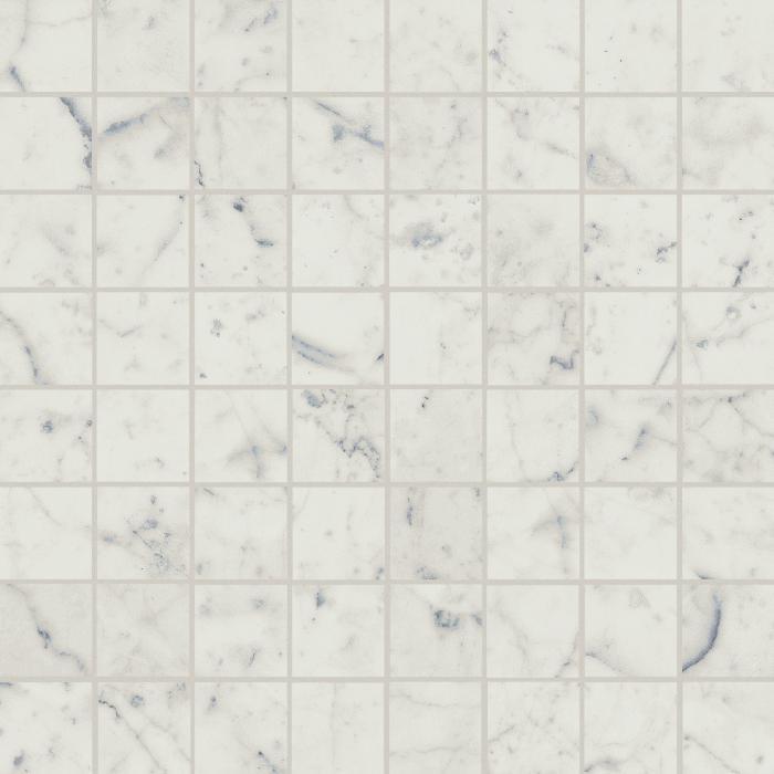 Текстура плитки Шарм Экстра Каррара Мозаика Люкс 29,2x29,2