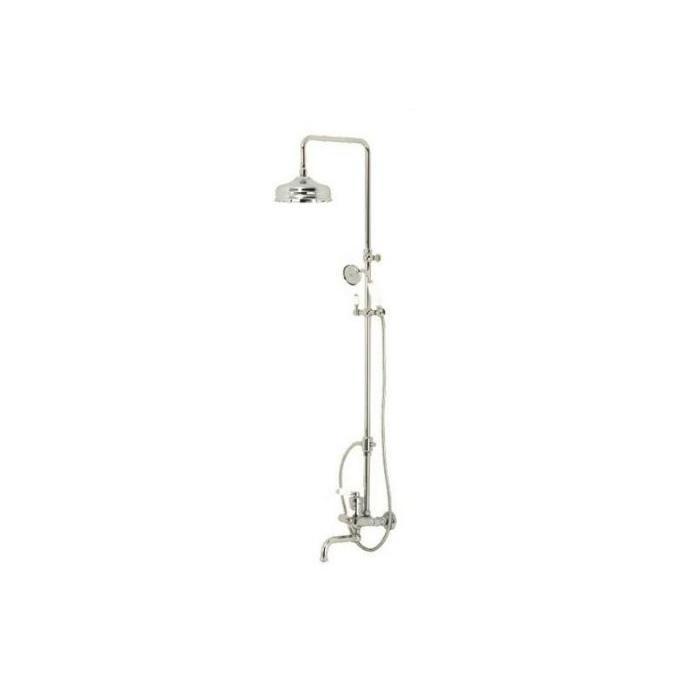 Фото сантехники ERMITAGE Душевой гарнитур (смеситель, душевая колонна, шланг, ручной душ)бронза