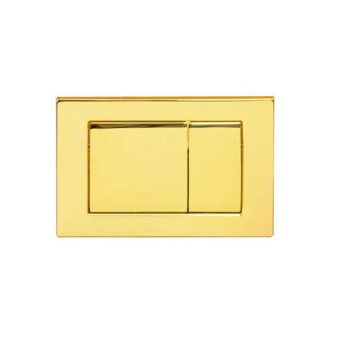 Фото сантехники Клавиша двойная h16,3xL24,3 см, металл, цвет золото