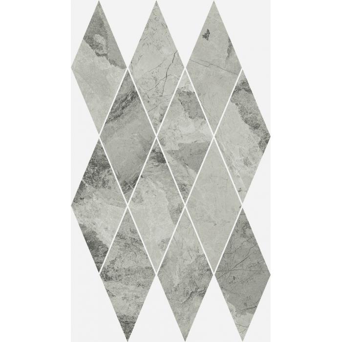 Текстура плитки Шарм Экстра Сильвер Мозаика Даймонд Люкс 28x48 (0,085м2/шт)