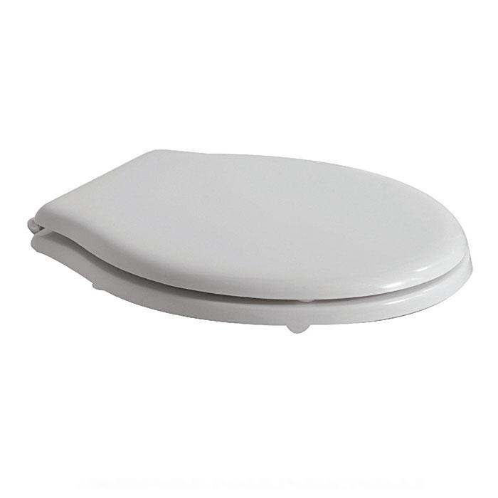 Фото сантехники Paestum Крышка для унитаза с микролифтом, цвет белый/хром