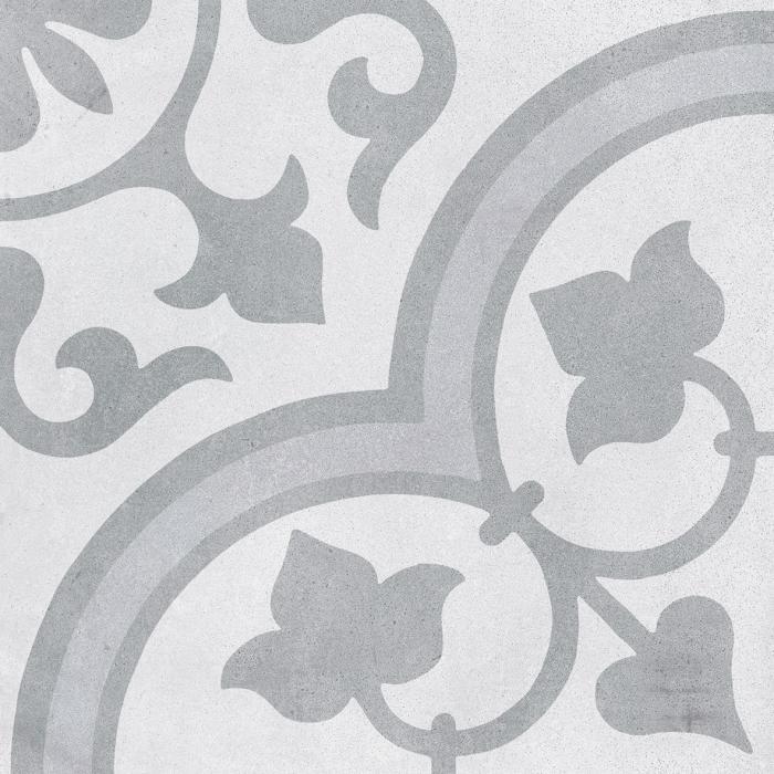 Текстура плитки Cuban Silver Ornate 22.3x22.3
