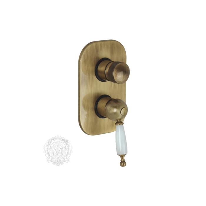 Фото сантехники Oxsford Смеситель монокомандный скрытого монтажа, 4-х позиционный с девиатором, цвет бронза