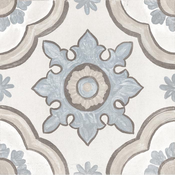 Текстура плитки Decor Basma White 20x20