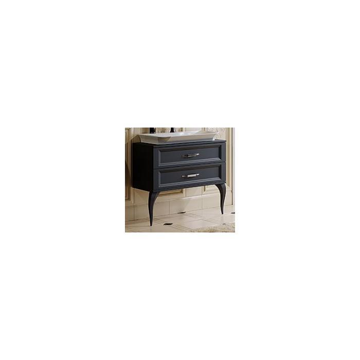 Фото сантехники LaDonna Тумба под умывальник 850хh770х405, цвет черный матовый, 85 см