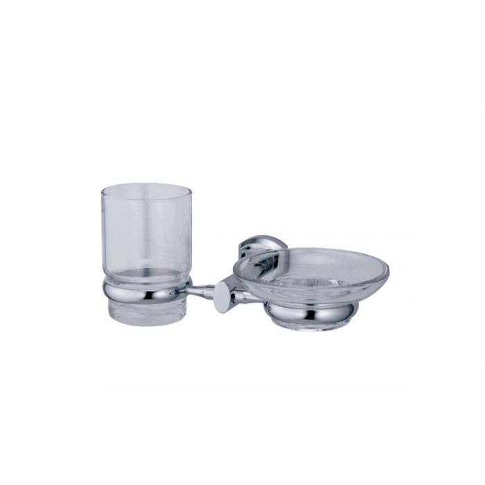 Фото сантехники Oder Держатель стакана и мыльницы (блистер), цвет хром