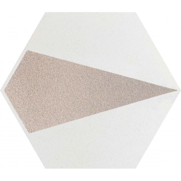 Текстура плитки Esagon Concrete Silver Inserto C 17.1x19.8