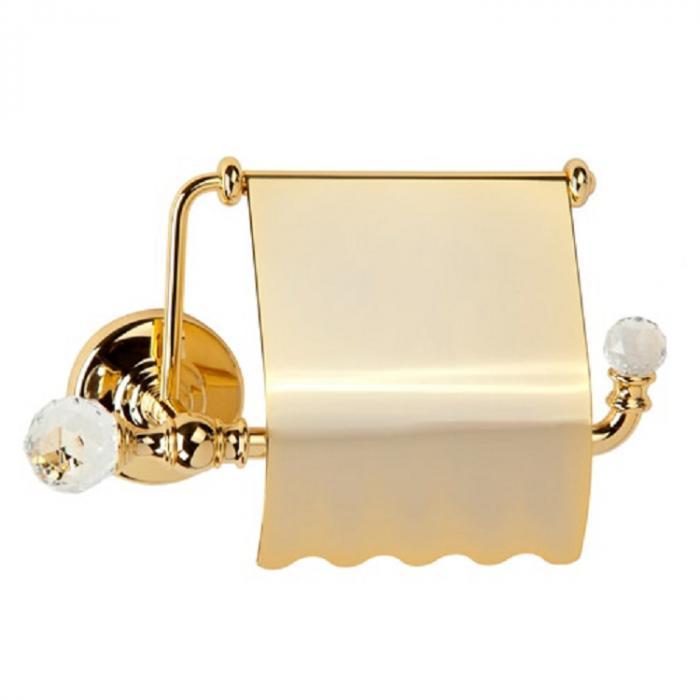 Фото сантехники Amerida Бумагодержатель закрытый, цвет золото, Swarovski