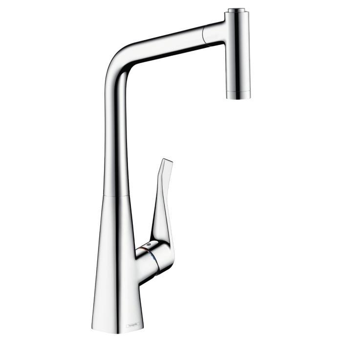 Фото сантехники Metris New Смеситель для кухни с выдвижным душем, цвет хром
