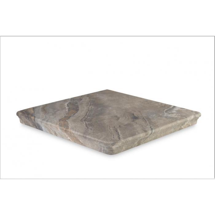 Текстура плитки Sea Rock Peldano Angular Florentino Gris Oscuro 33x33 - 2