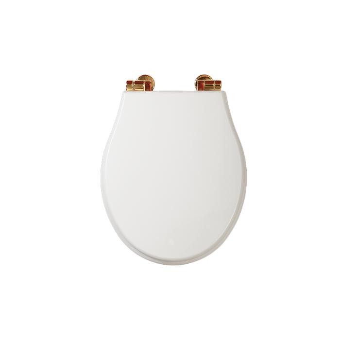 Фото сантехники Impero Крышка для унитаза с системой Microlift, цвет белый/золото