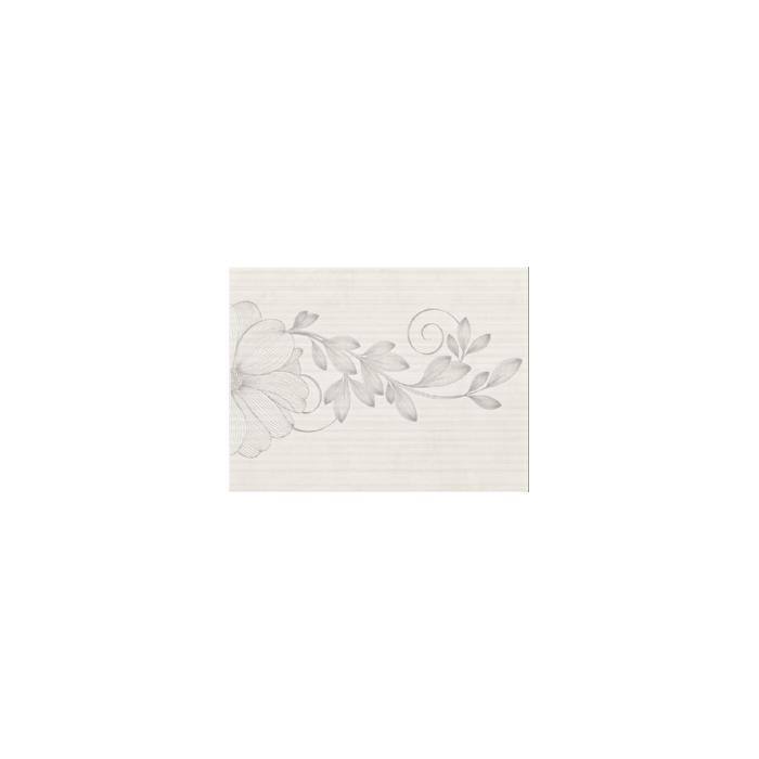 Текстура плитки Stacatto Bianco Inserto Kwiat 25x33.3