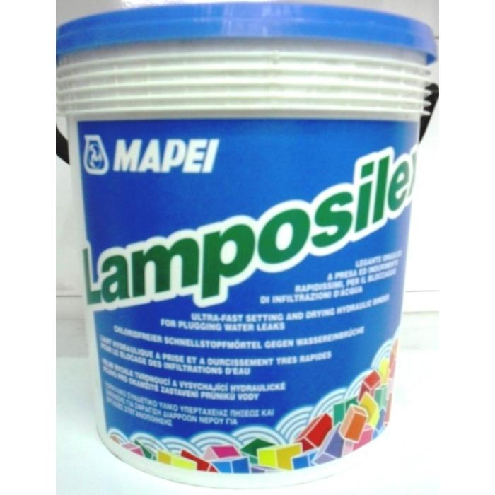 Строительная химия Lamposilex 5 kg быстротв.раствор для остановки протечек воды