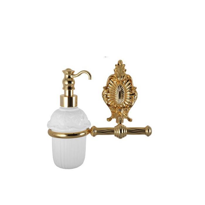 Фото сантехники Elisabetta Дозатор жидкого мыла, золото/керамика