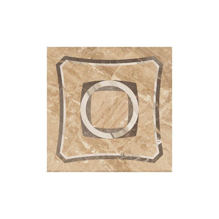 Текстура плитки Портофино Бежевый Вставка Интарсио Шлиф. Ретт. 45x45