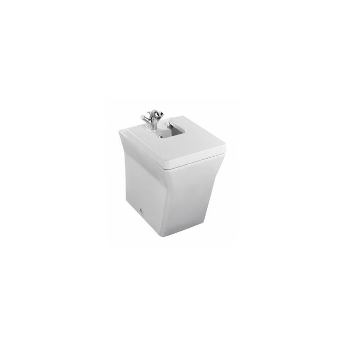 Фото сантехники Reve Биде напольное 56х36,5см. крышка с микролифтом, 1отв. для смесителя, цвет белый