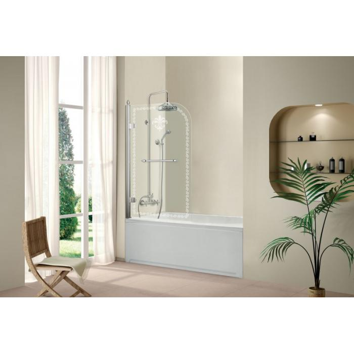 Фото сантехники Retro  Шторка на ванну.815x1520, профиль хром, стекло прозрачное