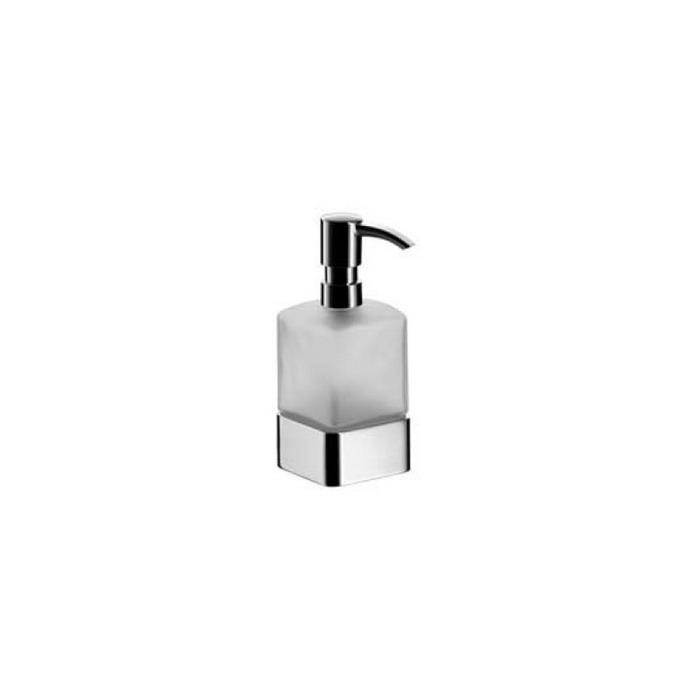 Фото сантехники Loft Дозатор для жидкого мыла 160х70х113мм, стекло сатин. с настенным держателем цвет хром