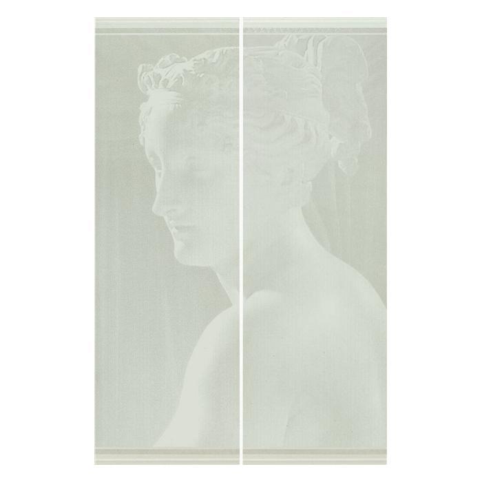 Текстура плитки Ermitage Dec.Venere A Bianco (comp. 2 pz) 51x78
