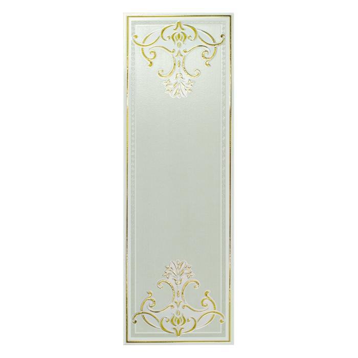 Текстура плитки Ermitage Dec.Fascia Impero Lux Bianco-Gold 25.5x78