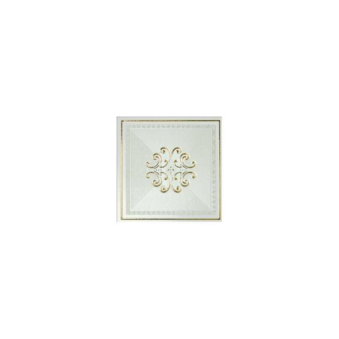 Текстура плитки Ermitage Dec. Finitura Impero Lux Bianco-Gold 25.5x25.5