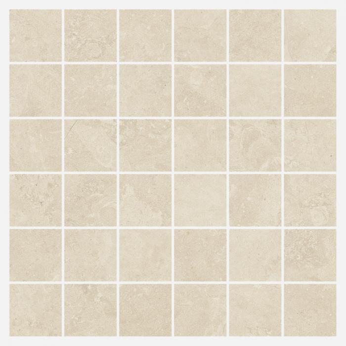 Текстура плитки Дженезис Мун Уайт Мозаика Нат. 30x30