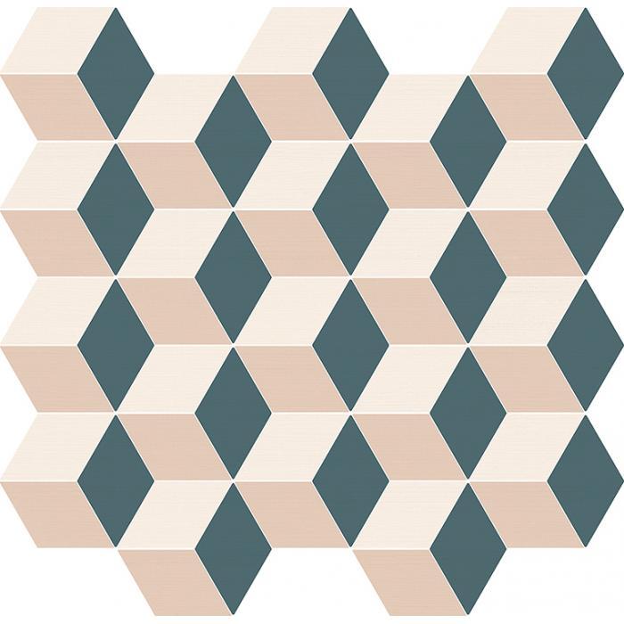 Текстура плитки Элeмент Мозаика Куб Колд 30,5x33